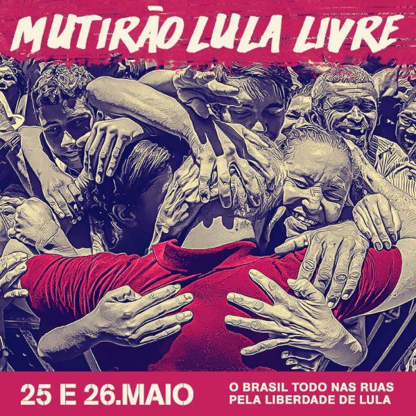 Encontre os materiais para o Mutirão Lula Livre