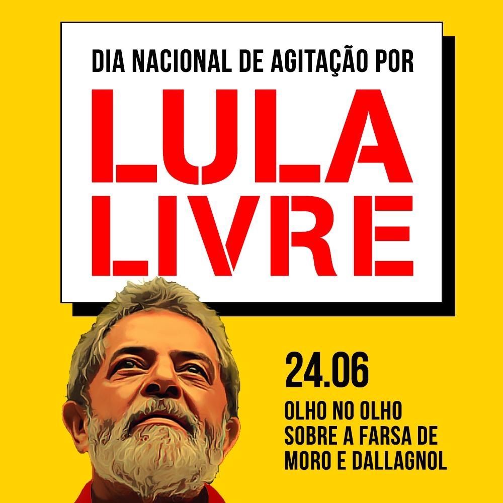 Baixe o jornal e as capas para redes sociais do Dia Nacional de Agitação por Lula Livre