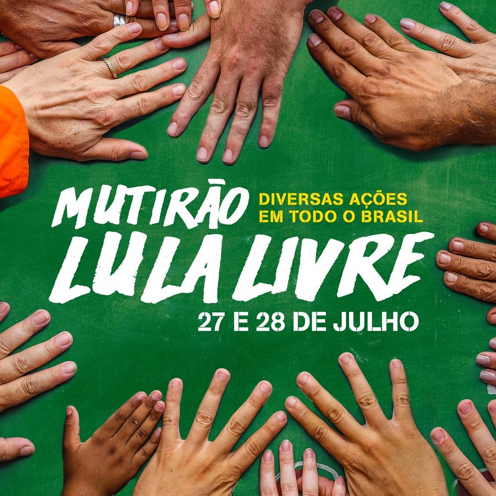 Baixe os materiais do 3º Mutirão Lula Livre