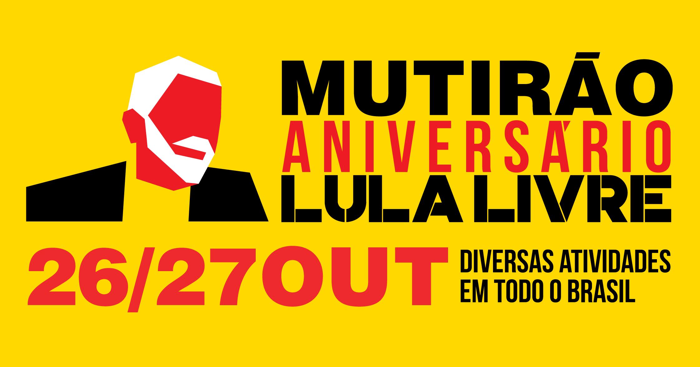 Mutirão Especial Aniversário do Lula: baixe e use os materiais