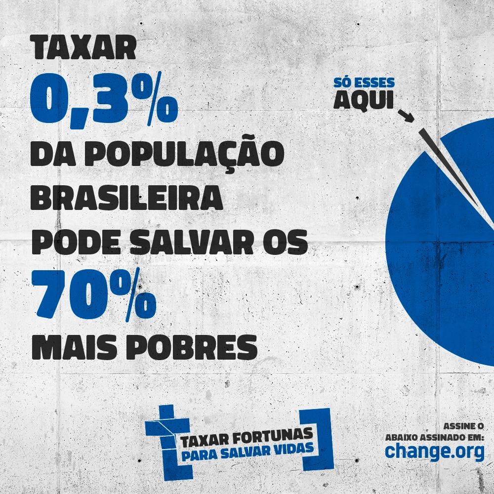 Campanha #TaxarFortunas – baixe os materiais!