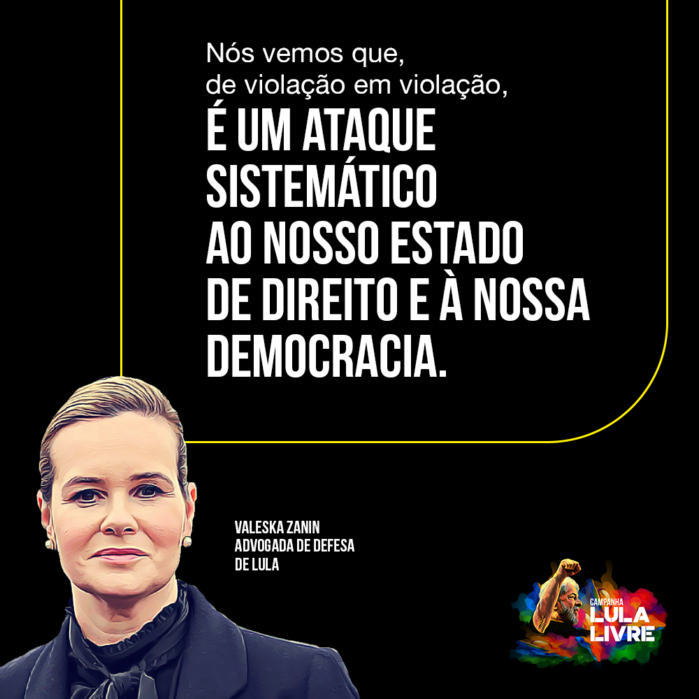 A perseguição judicial continua – Difunda as falas da defesa do Lula!