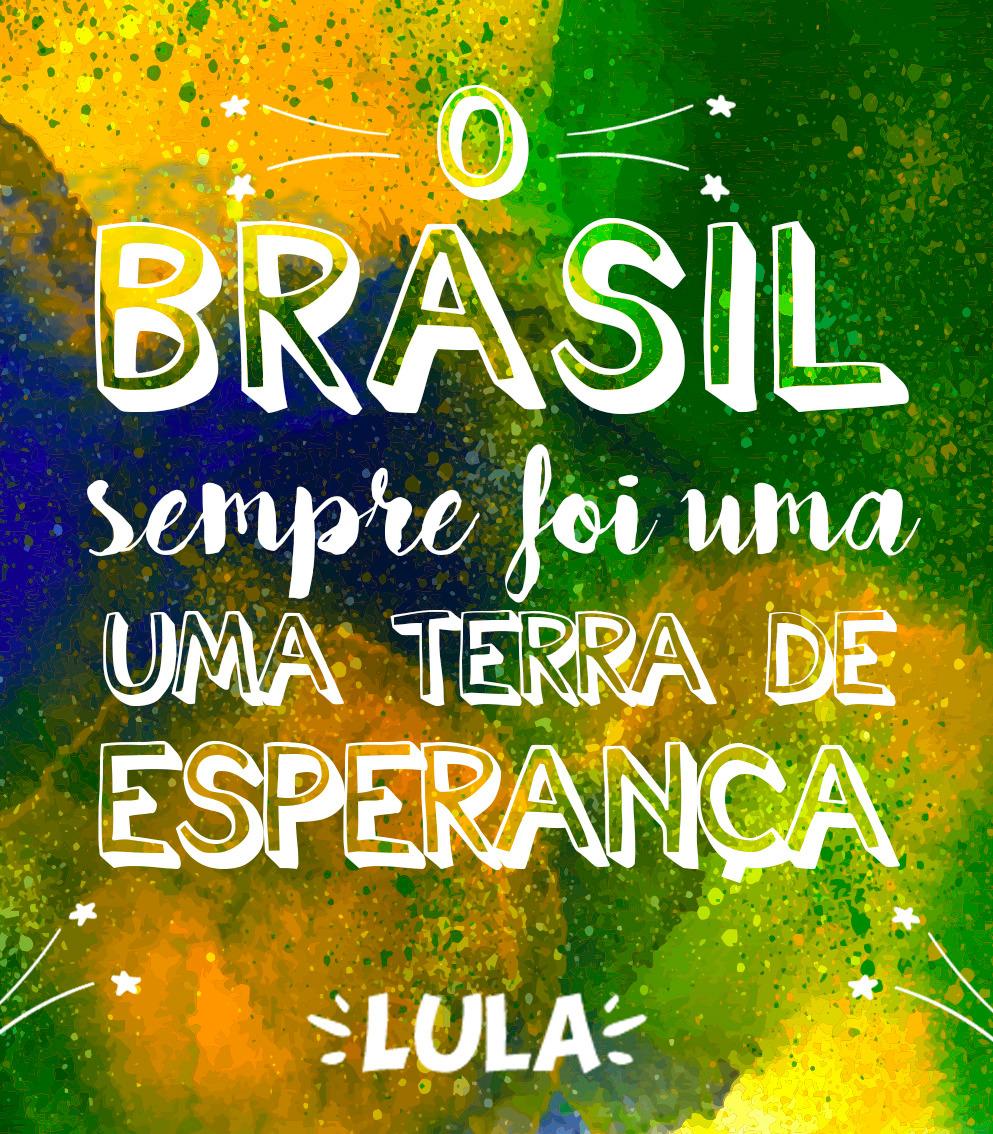 Artes com as falas do Lula. Clique e faça o download!